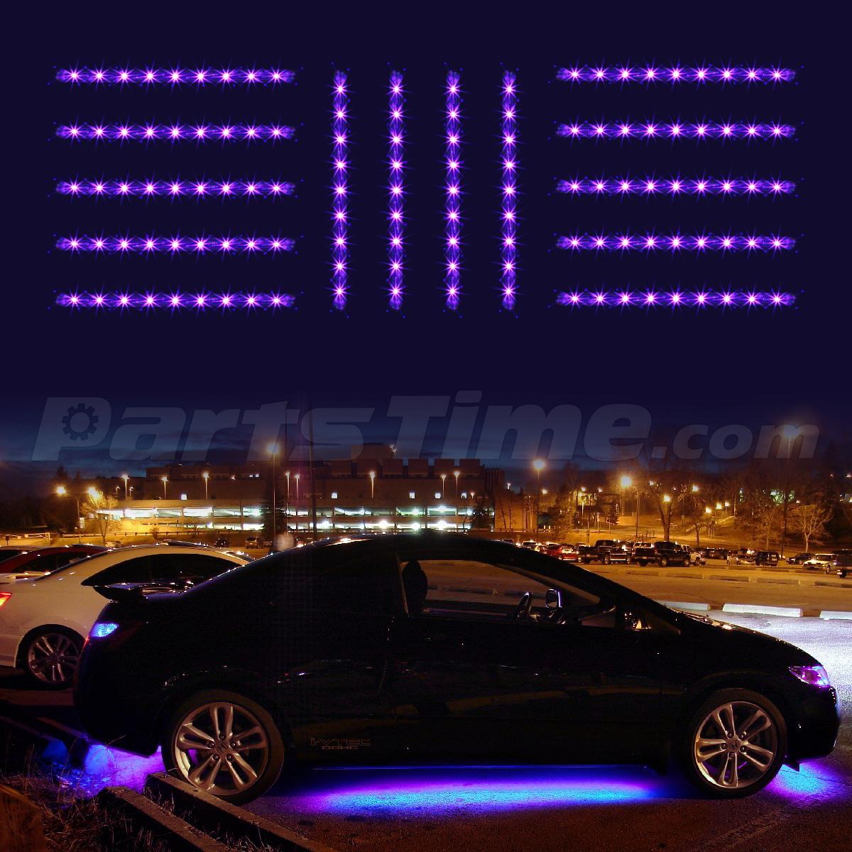 Purple 14pc Car Truck Underglow Under Body Neon Accent Glow LED Lights Kit 3Mode  eBay