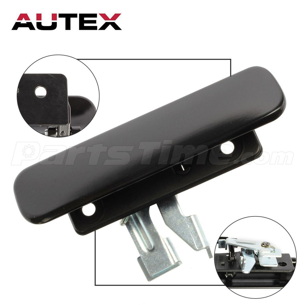 Exterior Outer Black Rear Right Door Handle for 19922002