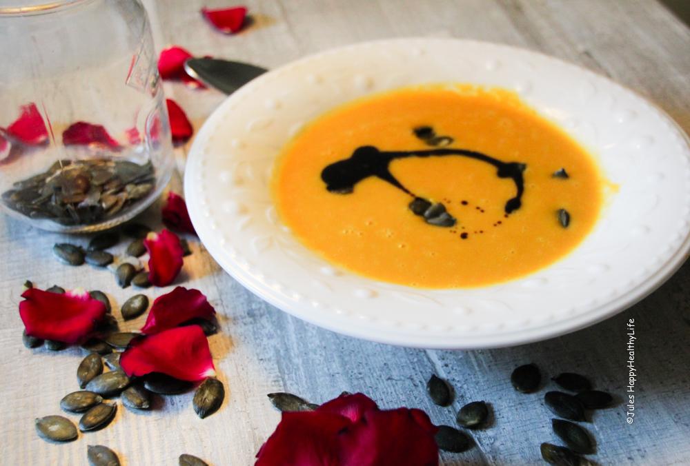 Rezept für Miso Geröstete Butternusskürbissuppe glutenfrei