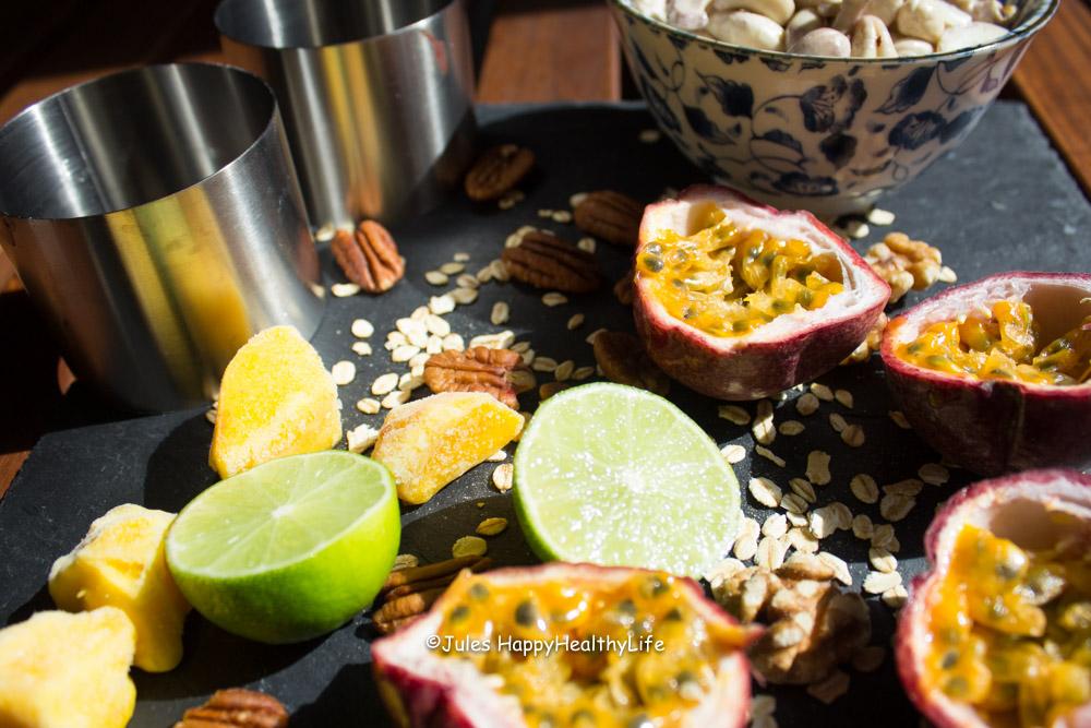 Zutaten für Tropischer Veganer Cheesecake