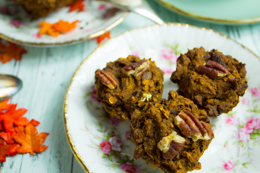 Mini Choclate Pumpkin Pie Muffins glutenfrei und vegan - Jules HappyHealthyLife