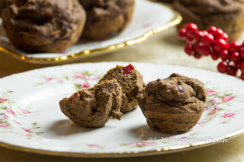 Cranberry Pekan Muffins glutenfrei, vegan, ohne Zucker