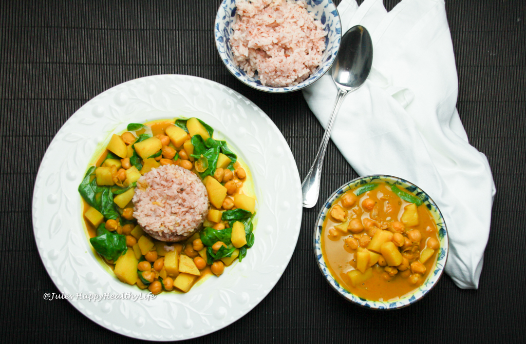 glutenfreies, veganes Kurkuma Kichererbsen Curry