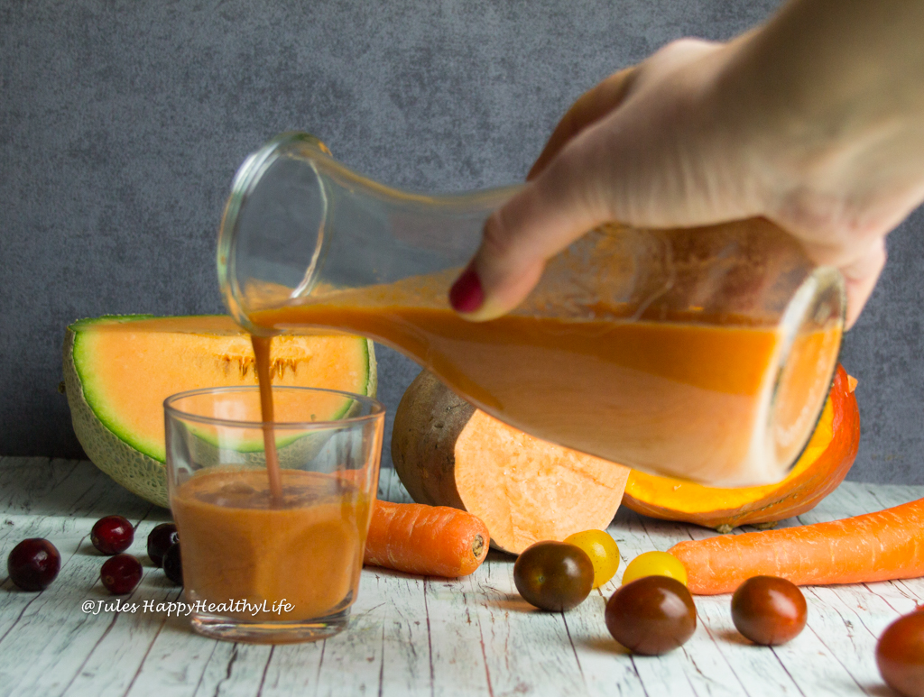 Gluten free, vegan Pumpkin Sweet Potato Detox Juice