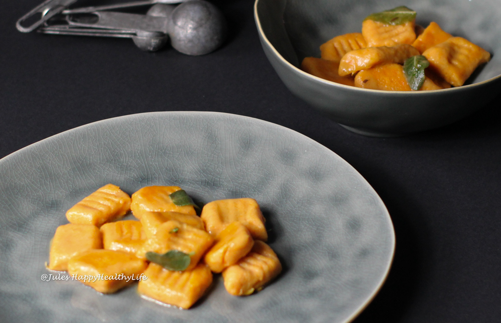 Gluten-free Recipe for Sweet Potato Gnocchi in Sage Butter