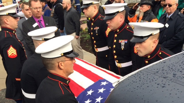 Over 1,000 turn out for unclaimed veteran's funeral