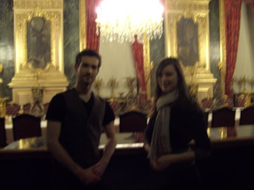 Me and Leo in Napoleon's Apartments