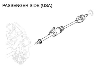 Mini Cooper Drive Axle Shaft Left Manual Oem Gen1