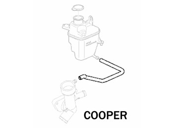 Mini Cooper S Expansion Tank Hose W/ Manual Trans