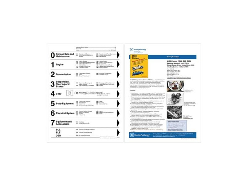 Mini Cooper Repair Manual & Service 2007-2011 R55