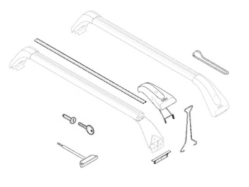 Mini Cooper Roof Rack Replacement Parts Oem R55 R5