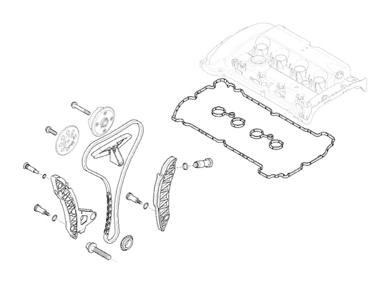 Mini Cooper S Timing Chain Kit Oem Gen2 R55-r57 20