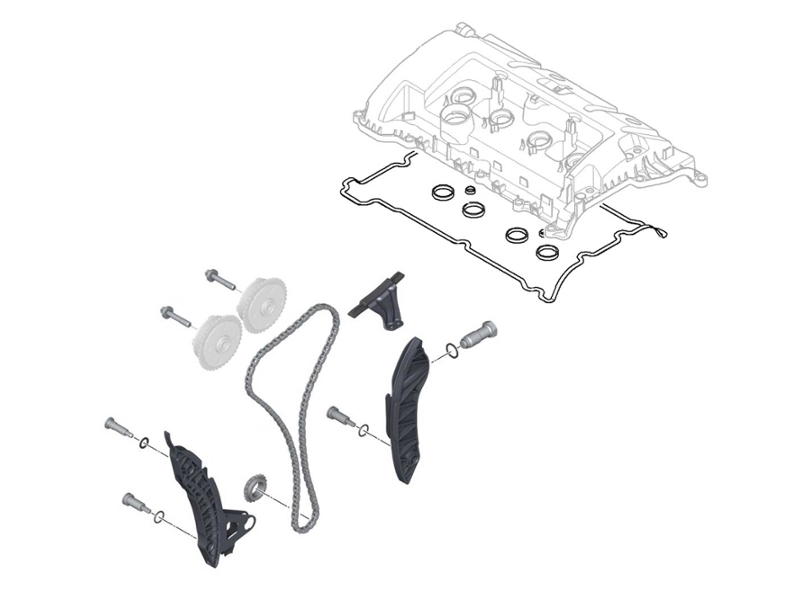 Mini Cooper Timing Chain Repair Kit Oem Gen2 R55-r