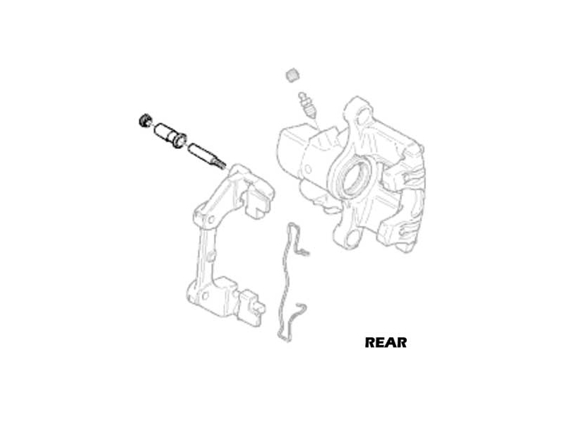 Mini Cooper Brake Caliper Guide Bolt With Bushing