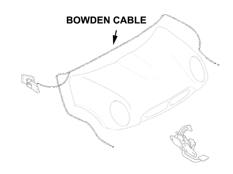 Hood Release Bowden Cable Oem R50 R52 R53 Mini Coo