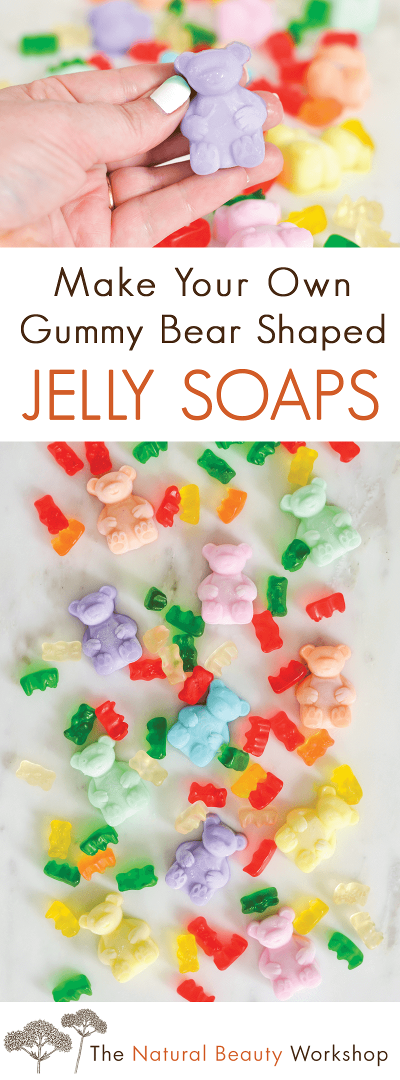 Make Your Own DIY Rainbow Jelly Soaps Shaped Like Gummy Bears_