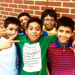 group photo at soccer club