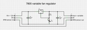 One dollar variable fan controller, using Fritzing