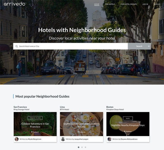 Arrivedo Neighbourhood Guides