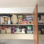 システムキッチンの吊り戸棚