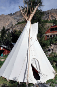 Circular hut or Teepee