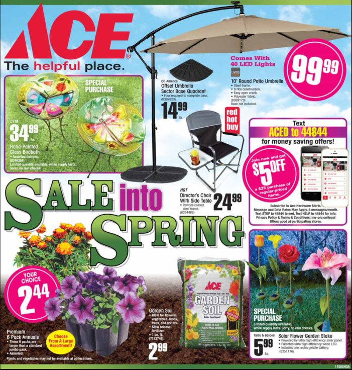 Massive Spring Savings At Arnold Ace Home Center