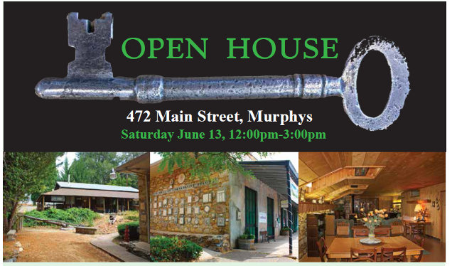 Own The Oldest Stone Building In Downtown Murphys!  Open House June 13th