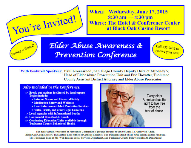 Elder Abuse Awareness & Prevention Conference Is June 17th