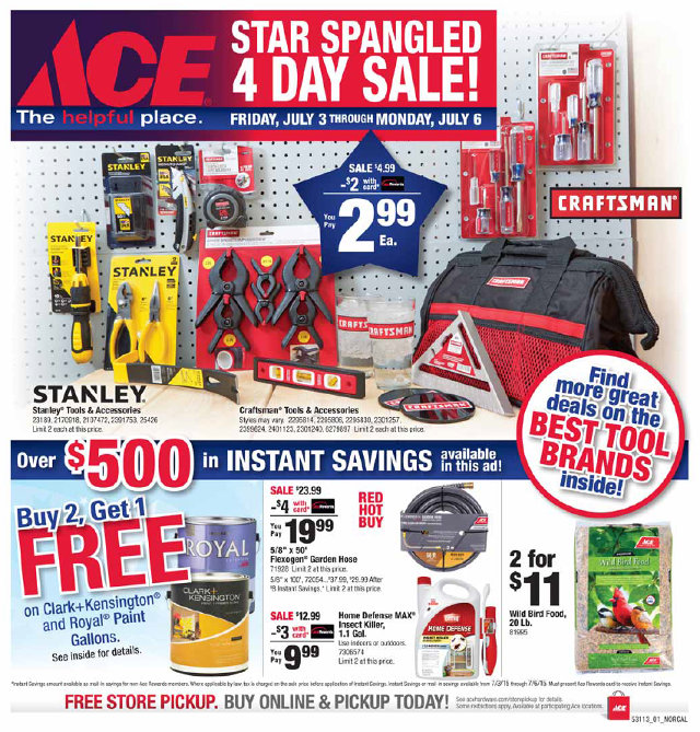 Star Spangled 4 Day Sale At Arnold Ace Home Center