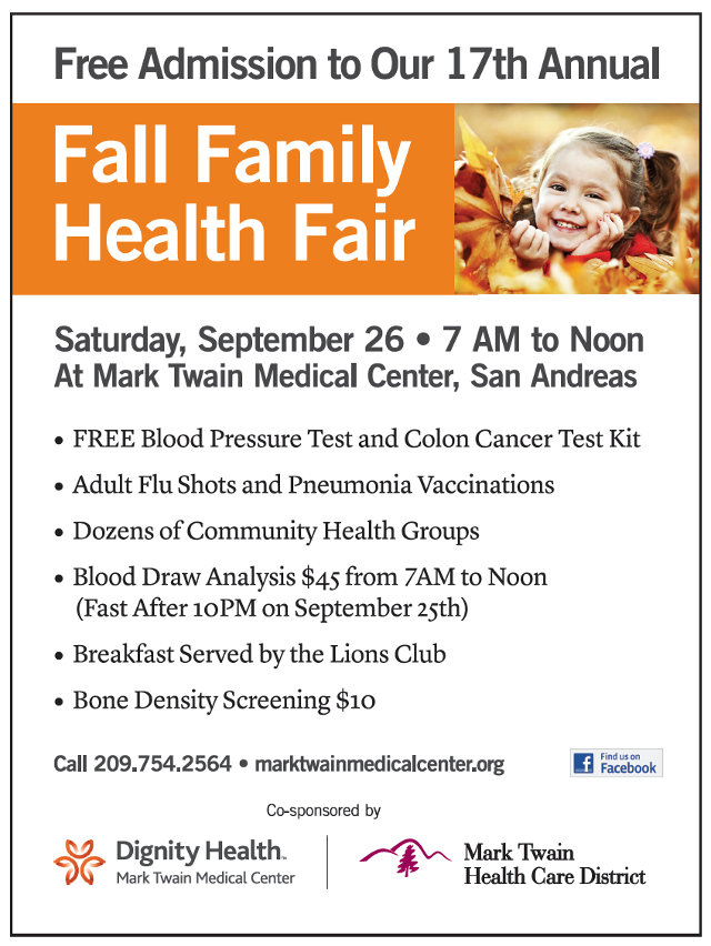 Mark Twain Medical Center's Fall Health Fair Is September 26th