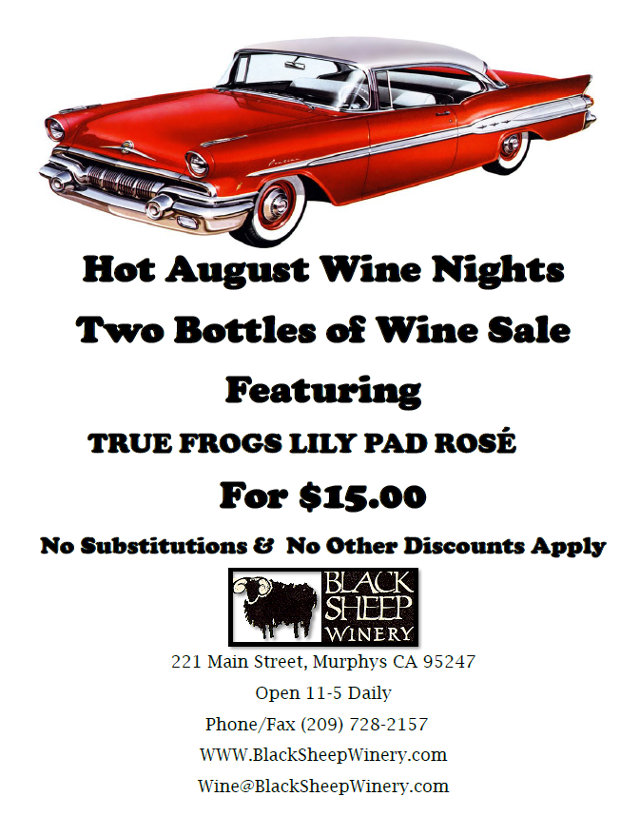 Hot August Two Packs From Black Sheep Winery