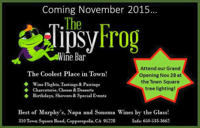 "The ""Tipsy Frog"" Is Coming Soon To Copperopolis Town Square"