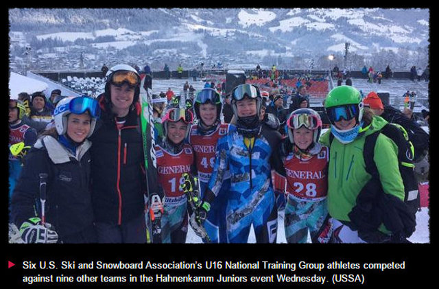 Ex BV Coach & Strawberry Resident John Cashman Coached US Ski Team's NGT Youth Into Battle At Hahnenkamm