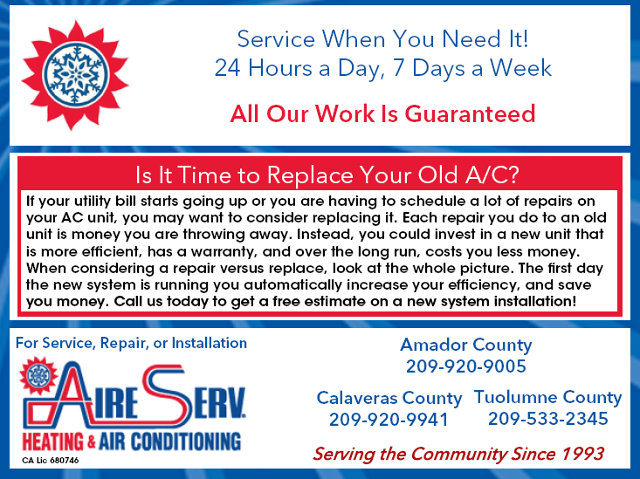 Is It Time To Replace Your Old AC?  Call Aire Serv Today!