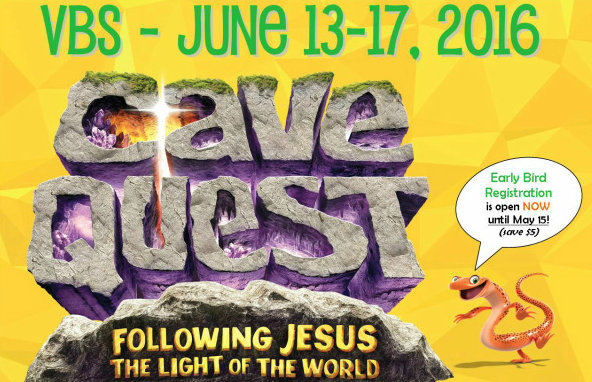 Register Now For Cave Quest VBS June 13th – 19th