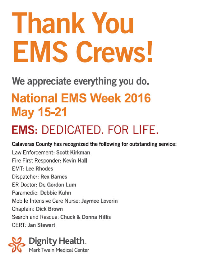 Thank You EMS Crews From Mark Twain Medical Center