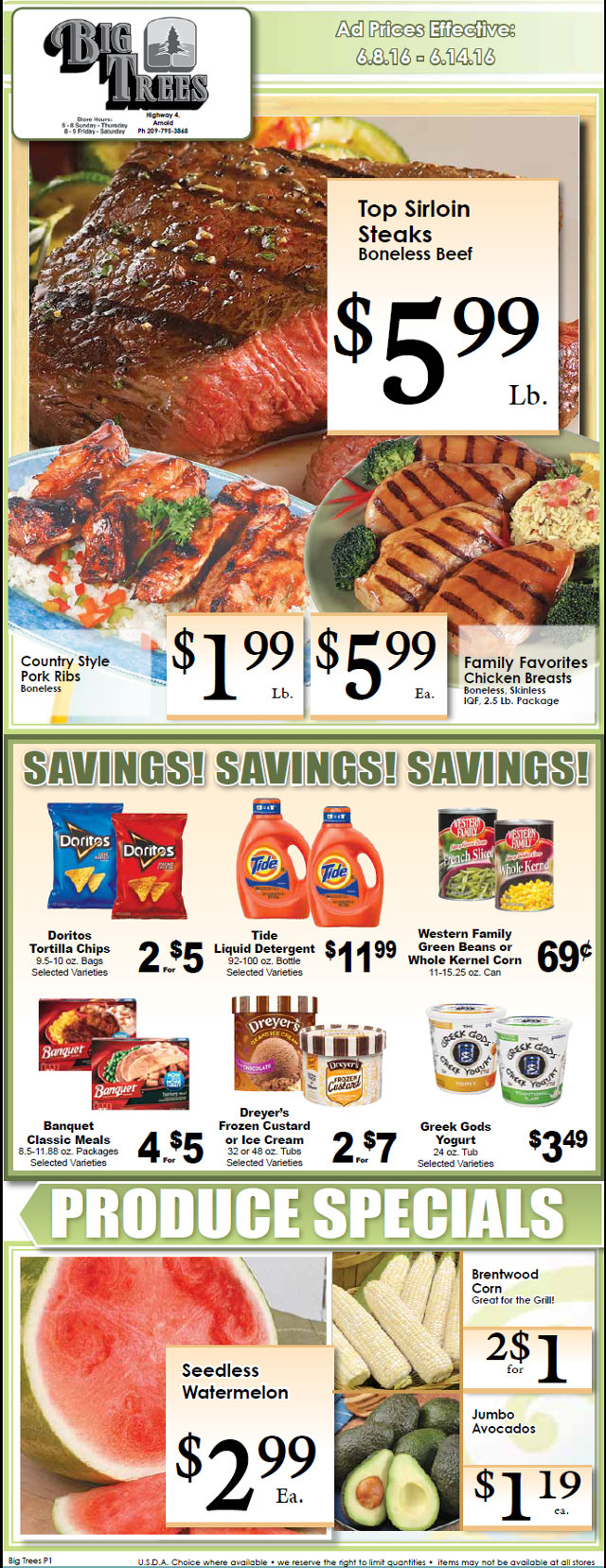Big Trees Market Weekly Ad & Specials Through June 14th