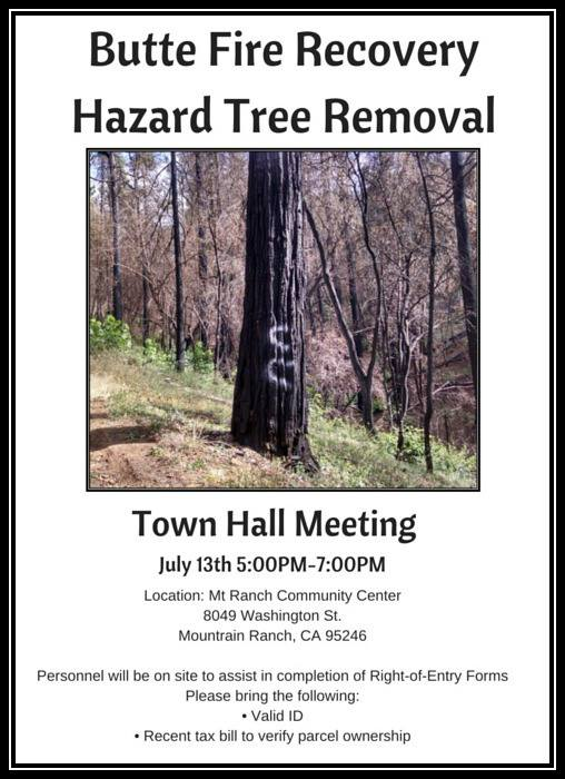 Reminder….Butte Fire Town Hall In Mountain Ranch Tonight