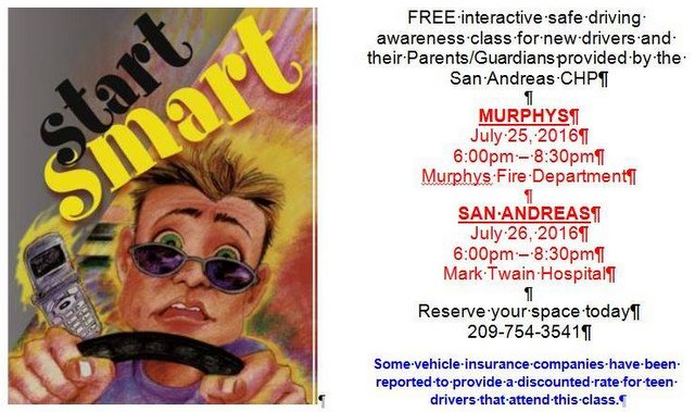 CHP San Andreas Hosts Teen Driving Classes July 25th & 26th