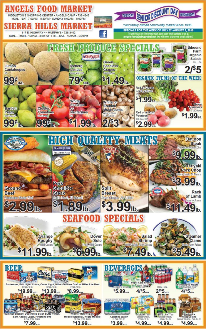 Angels Food & Sierra Hills Markets Weekly Ad Through August 2nd