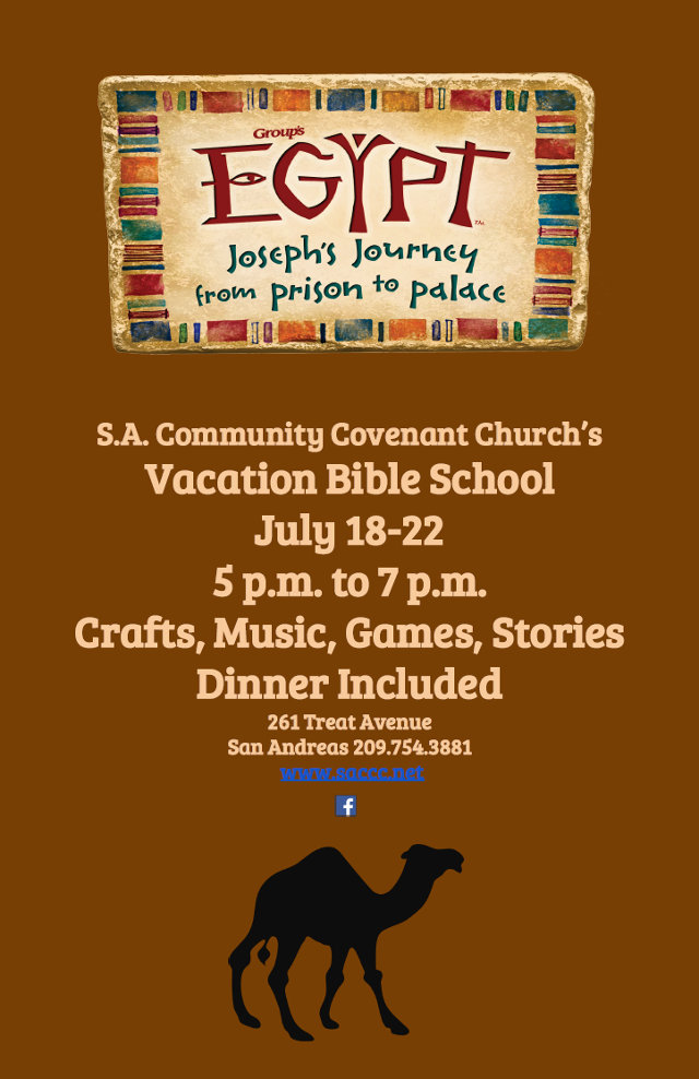 Don't Miss Egypt Vacation Bible School Starting Tonight In San Andreas