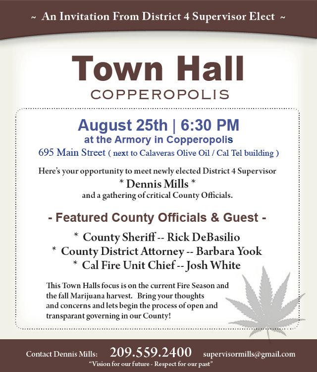 Town Hall Focusing On Current Fire Season & Fall Marijuana Harvest.