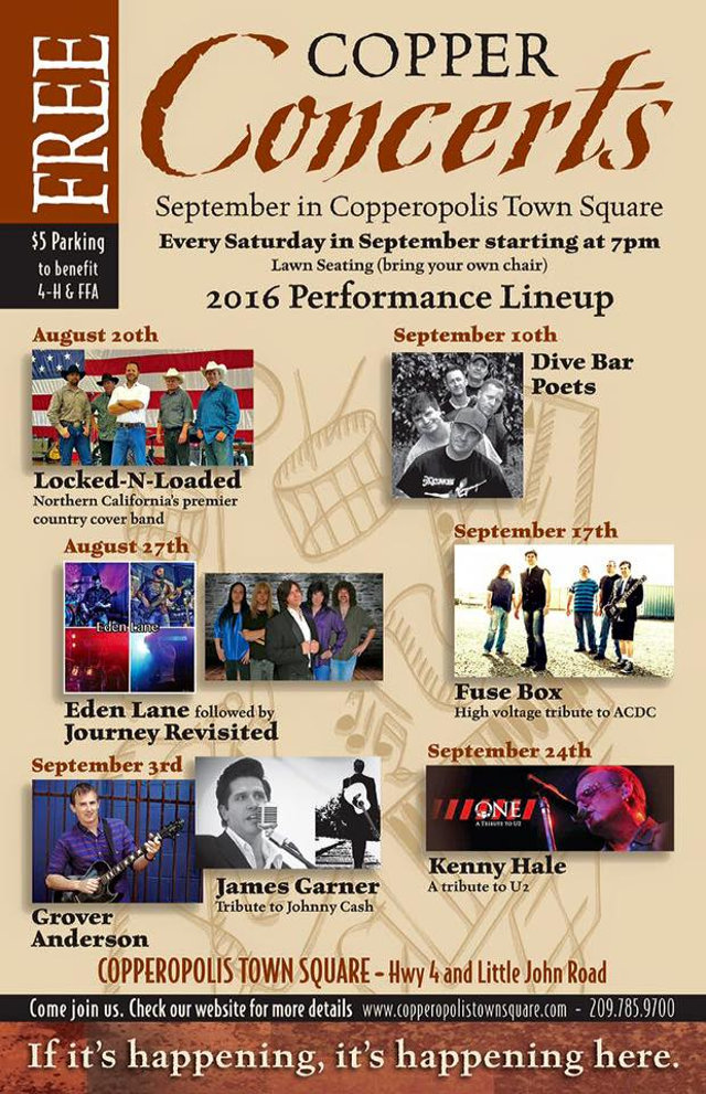 Copper Concerts For 2016 Open Up Season Locked & Loaded