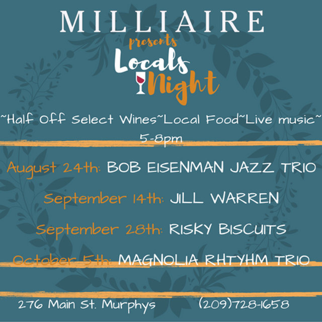 The Bob Eisenman Jazz Trio To Headline Milliaire Local's Night Tonight!!