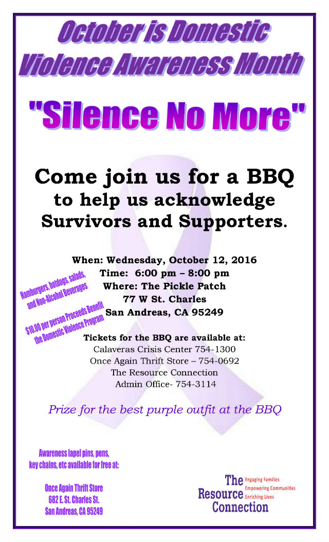Domestic Violence Awareness Barbecue