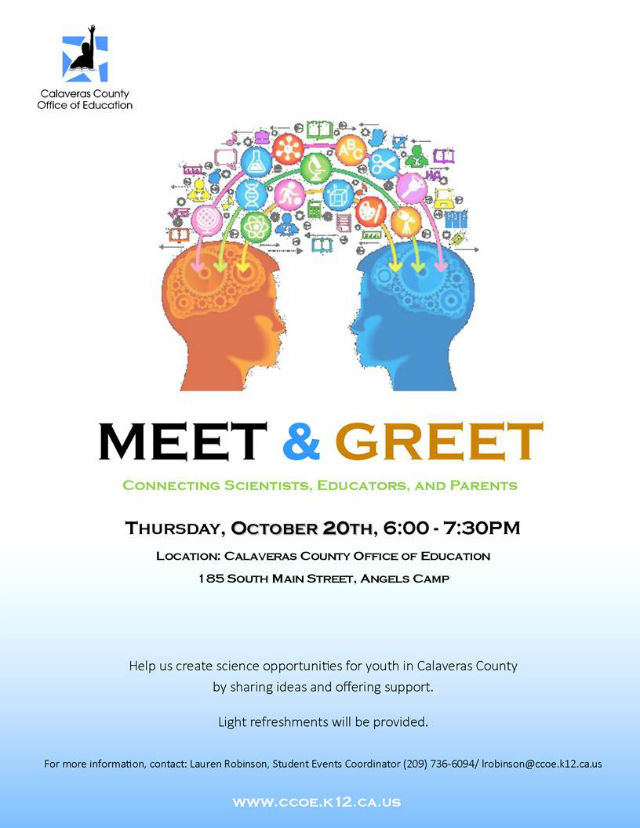 Calaveras County Office Of Education Encourages Science Opportunites At Meet & Greet