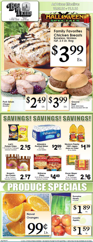 Big Trees Market Weekly Ad & Specials Through November 1st