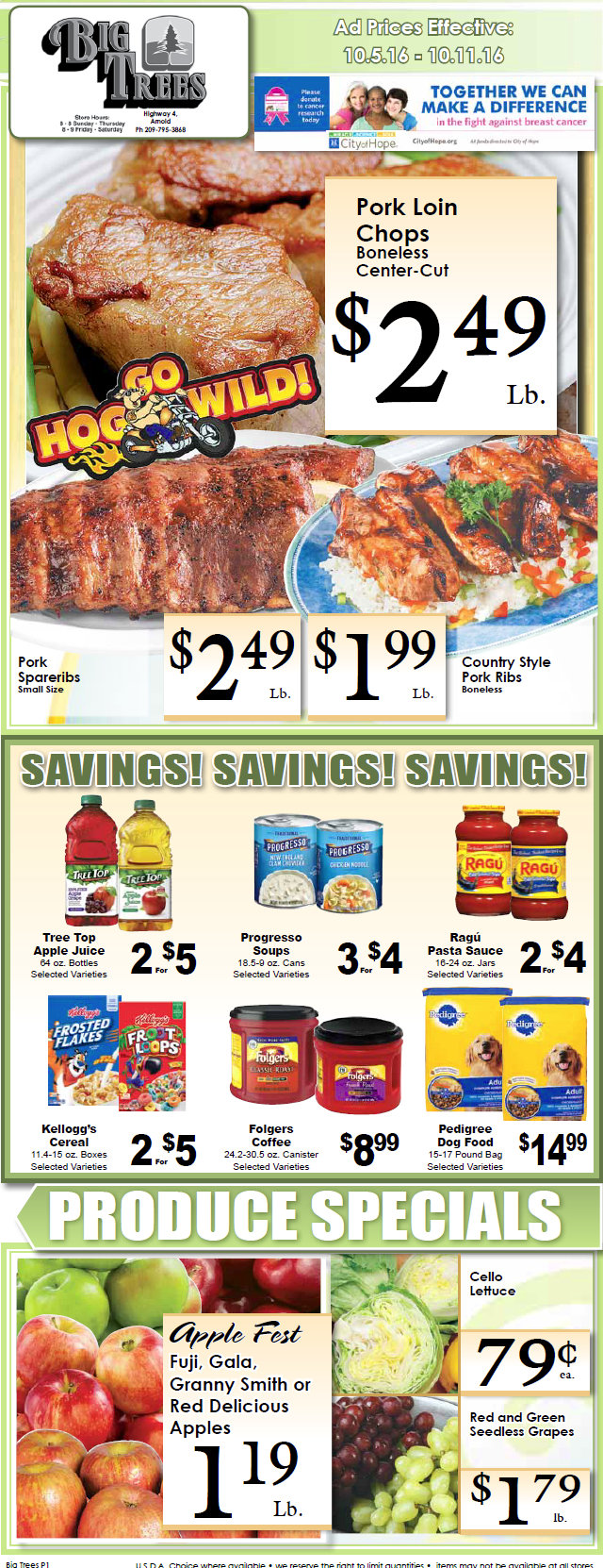 Big Trees Market Weekly Specials & Grocery Ads Through October 11th
