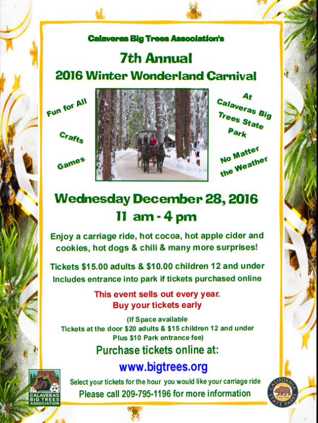 2016 Winter Wonderland Carnival At Big Trees State Park