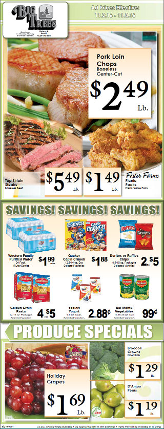Big Trees Market Weekly Ad & Specials Through November 8th